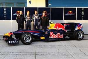 Red Bull RB6 launch Newey Vettel Webber Horner Foto Red Bull