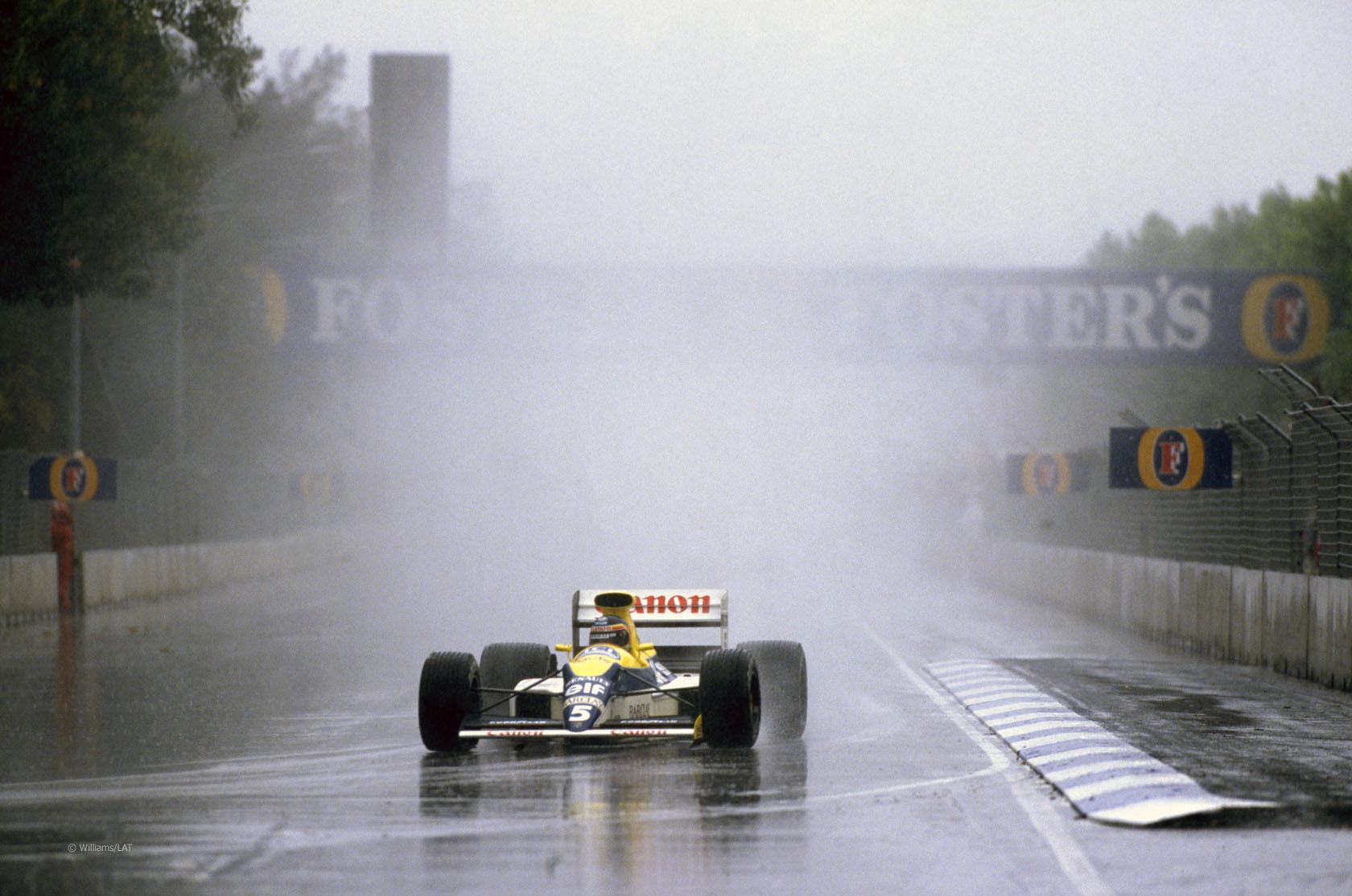 thierry boutsen australian gp 1989 adelaide rain