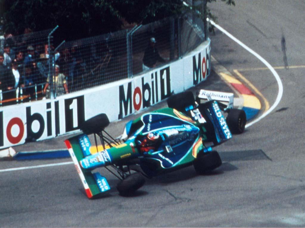 michael schumacher damon hill adelaide 1994 australia chrash