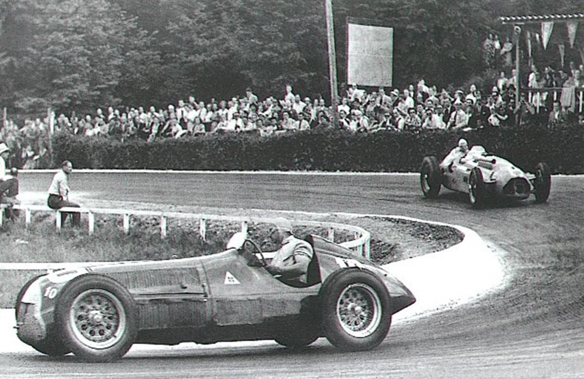 Juan Manuel Fangio Alfa Romeo Luigi Fagioli Belgian GP F1 1950 (18.6.1950.) Foto: forum-auto-com