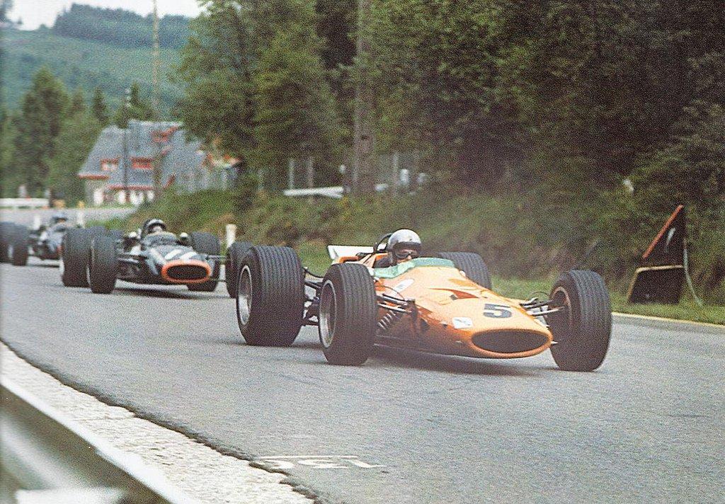 Bruce McLaren Pedro Rodriguez belgium gp 1968 f1 (9.6.1968.)