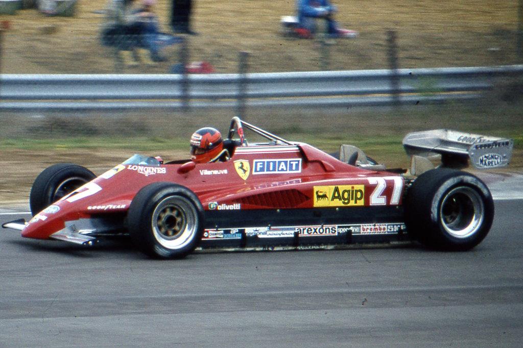 Gilles Villeneuve zolder belgian gp 1982 (9.5.1982.)