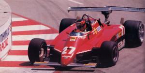 Gilles Villeneuve u Ferrariju 126C s dva stražnja krila. Kanađanin je završio treći na Long Beachu, ali je naknadno diskvalificiran jer dva stražnja krila nisu bila u duhu tehničkog pravilnika. (4.4.1982.) Foto: gt40s