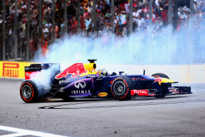 Sebastian Vettel slavi devetu uzastopnu pobjedu, čime je izjednačio rekord Alberta Ascarija iz 1952./1953. (24.11.2013.) Foto: Red Bull