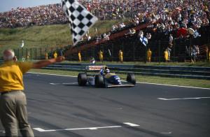 Damon Hill ostvario je prvu pobjedu u karijeri na VN Mađarske 1993. (15.8.1993.) Foto: f1fanatic