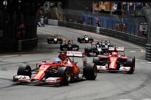 Alonso i Raikkonen u jedinoj zajedničkoj sezoni u Ferrariju na VN Monaka. Alonso je završio treći, a Raikkonen je odvozio najbrži krug utrke. (25.5.2014.) Foto: Ferrari