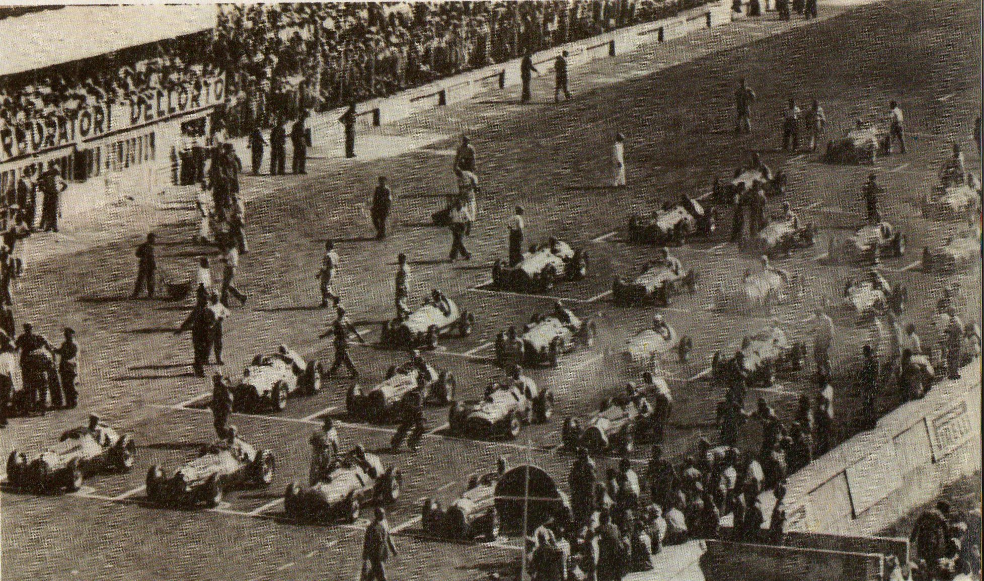 Velika Nagrada Italije 1950., prva održana u sklopu svjetskog prvenstva Formule 1. (3.9.1950.) Foto: pinterest