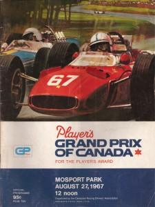 Brošura VN Kanade 1967. održane na Mosport Parku, prve koja je bila u kalendaru Formule 1. Sponzor je bio engleski proizvođač duhana Player's. (27.8.1967.) Foto: Cliffreuter