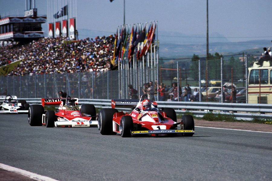 niki lauda james hunt spanish gp jarama f1 1976
