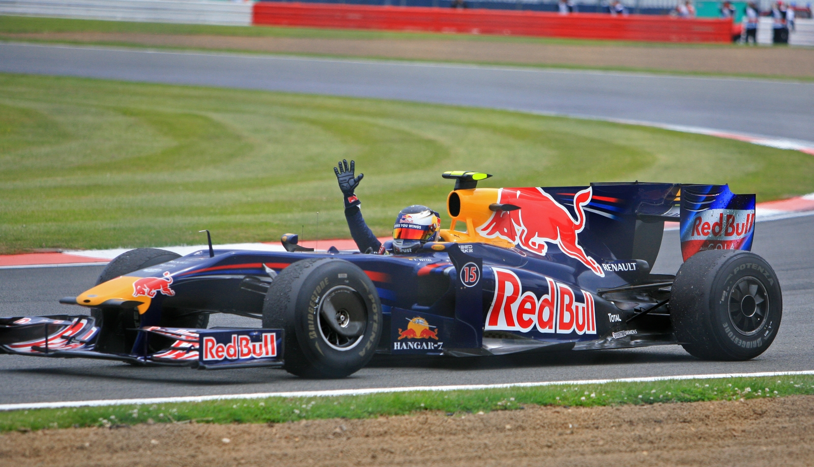 Sebastian Vettel Red Bull RB5 silverstone british gp 21.6.2009.