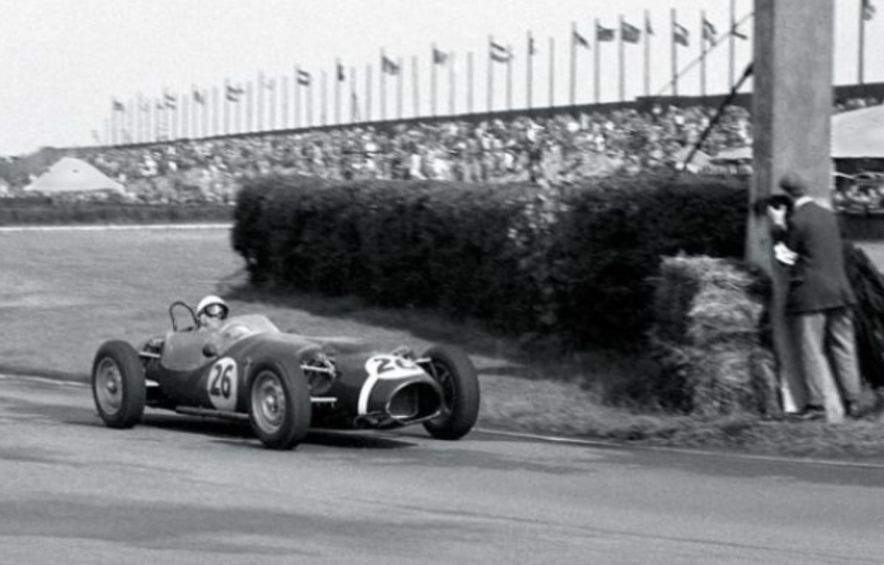 Stirling Moss Ferguson P99 Climax Aintree 15.7.1961.