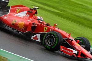 Kimi Raikkonen bio je među aktivnijim vozačima na drugom slobodnom treningu. Finac je odvozio 16 krugova, a zaposleniji je bio tek njegov momčadski kolega Vettel (19 krugova). (25.9.2015.) Foto: Ferrari
