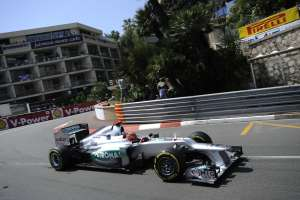 U svojoj posljednjoj F1 sezoni Michael je oduševio najbržim kvalifikacijskim krugom na VN Monaka (27.5.2012.) Foto: Pirelli
