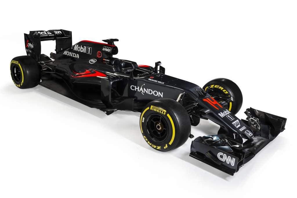2016 McLaren Honda MP4-31 Front Three Quarter no sponsor