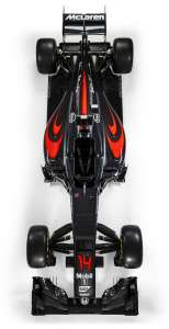 2016 McLaren Honda MP4-31 Overhead No sponsor