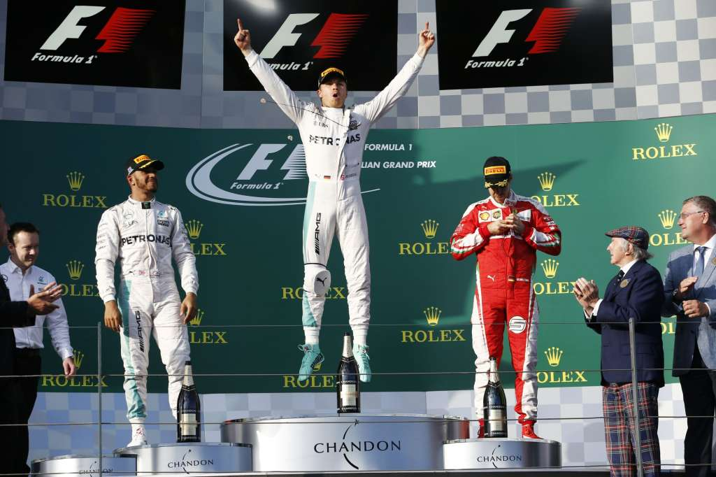 Australian GP 2016 Melbourne podium celebration