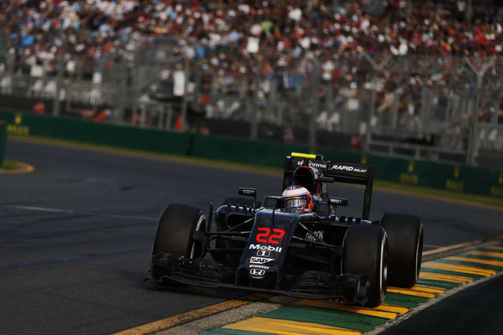Jenson Button McLaren Honda MP4-31 Australian GP Melbourne F1 2016