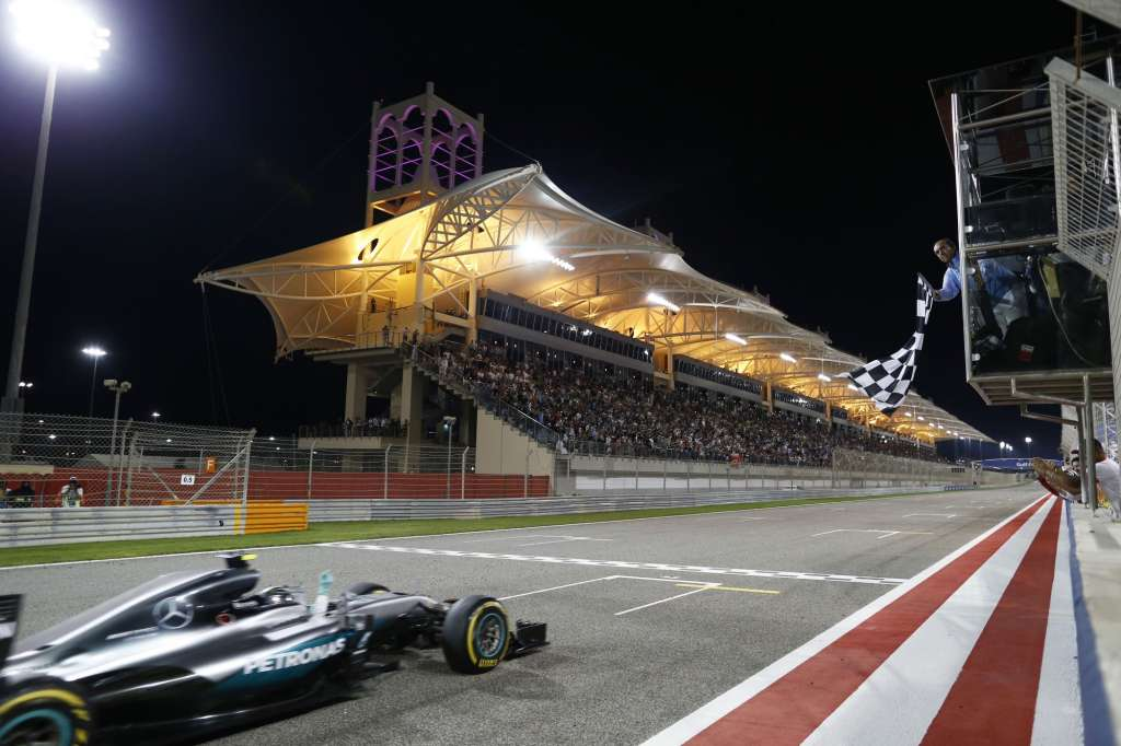 Nico Rosberg Mercedes W07 Hybrid celebrates his 16th F1 victory at Bahrain GP F1 2016Nico Rosberg Mercedes W07 Hybrid celebrates his 16th F1 victory at Bahrain GP F1 2016