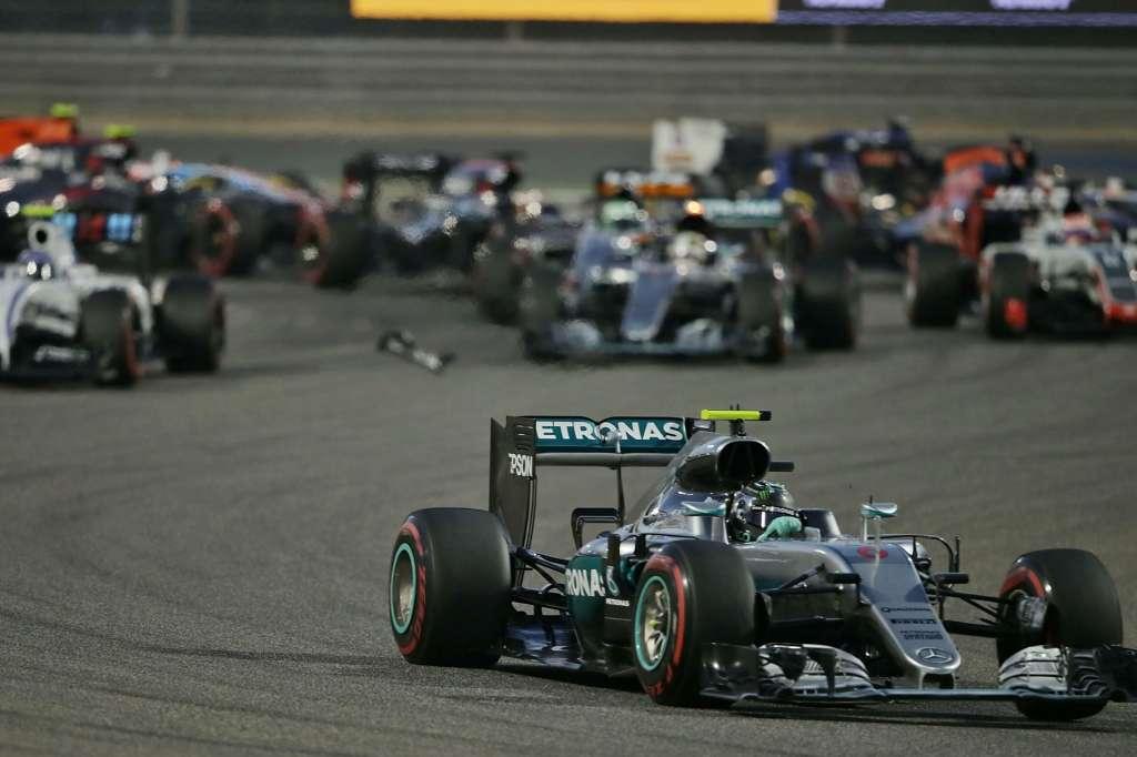 Start of the Bahrain GP F1 2016