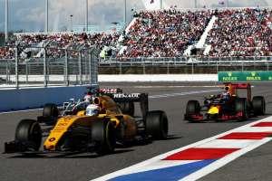 Daniel Ricciardo of Australia driving the Red Bull Racing Red Bull-TAG Heuer RB12