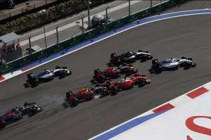Russian GP F1 2016 start