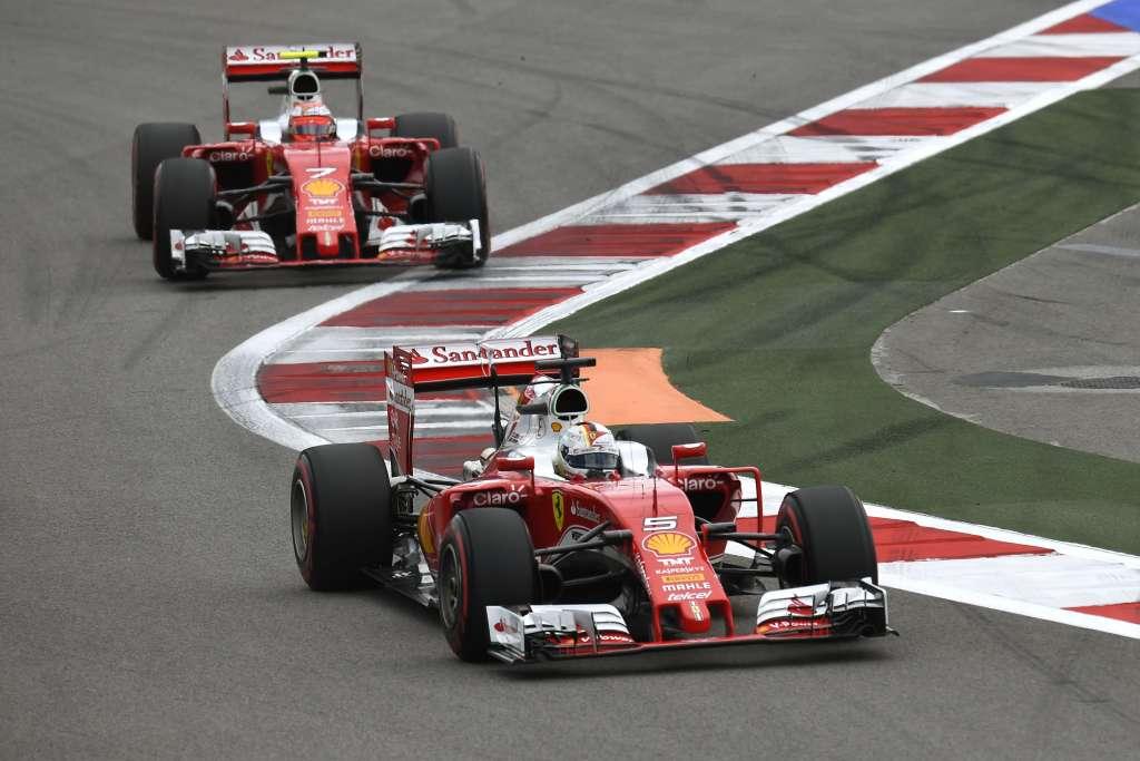 Sebastian-Vettel-and-Kimi-Raikkonen-Ferrari-SF16-H-Russia-GP-Sochi-F1-2016-Foto-Pirelli