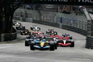 Start of the Monaco GP F1 2006 Foto Renault