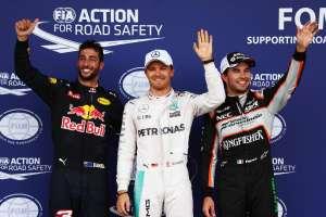 European GP Baku F1 2016 qualy top3 Rosberg Perez Ricciardo Foto F1Fanatic