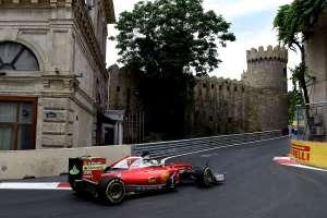 Sebastian Vettel Ferrari SF16-H European GP Baku F1 2016 foto Ferrari turn eight