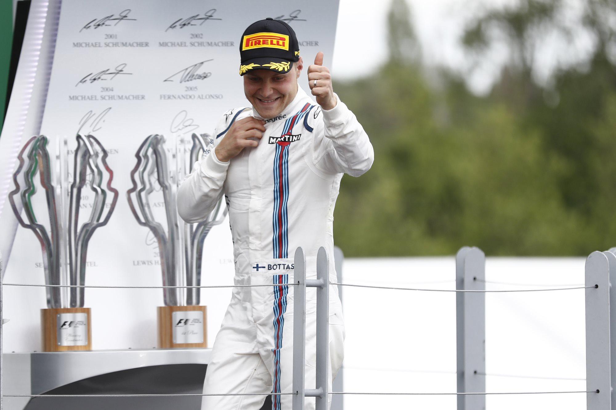 Valtteri Bottas Williams FW38 Mercedes Canada GP F1 2016 podium