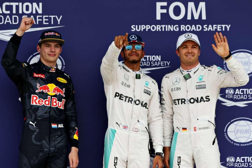 British GP F1 2016 top three qualy Foto Red Bull