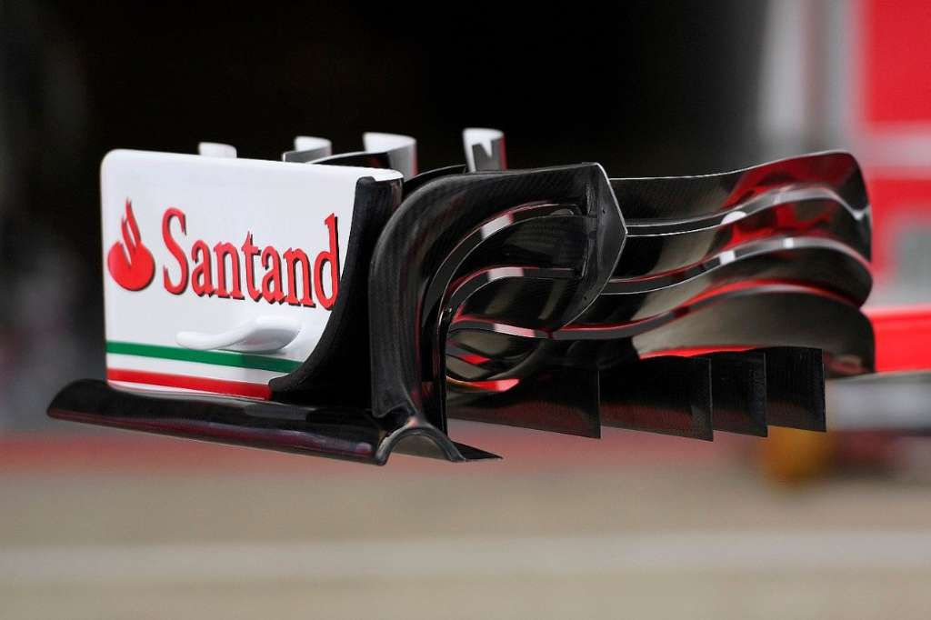 Ferrari SF16-H front wing from behind Great Britain GP F1 2016 foto Sutton