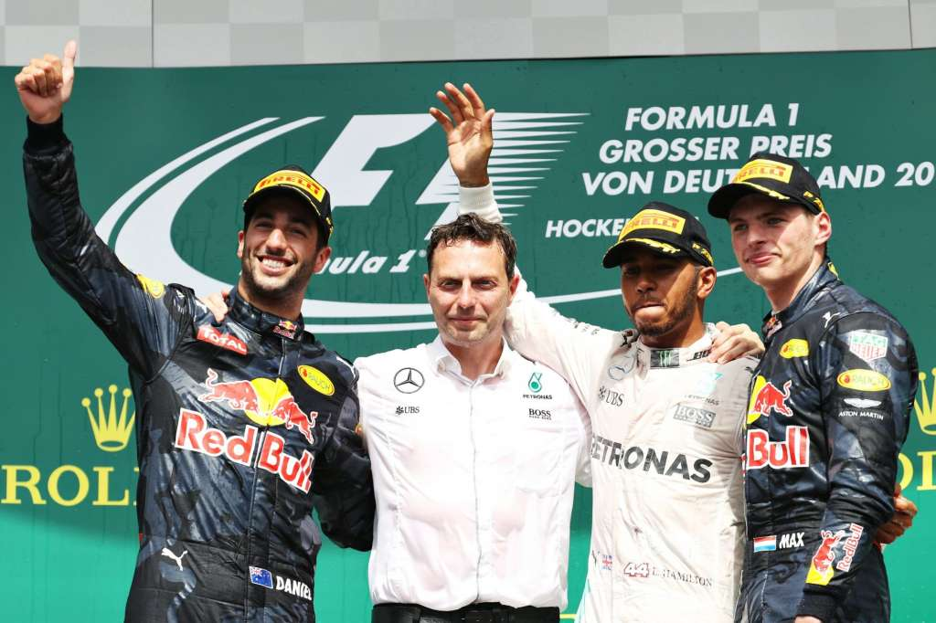 German GP F1 2016 Hockenheim podium top3 Foto Red Bull
