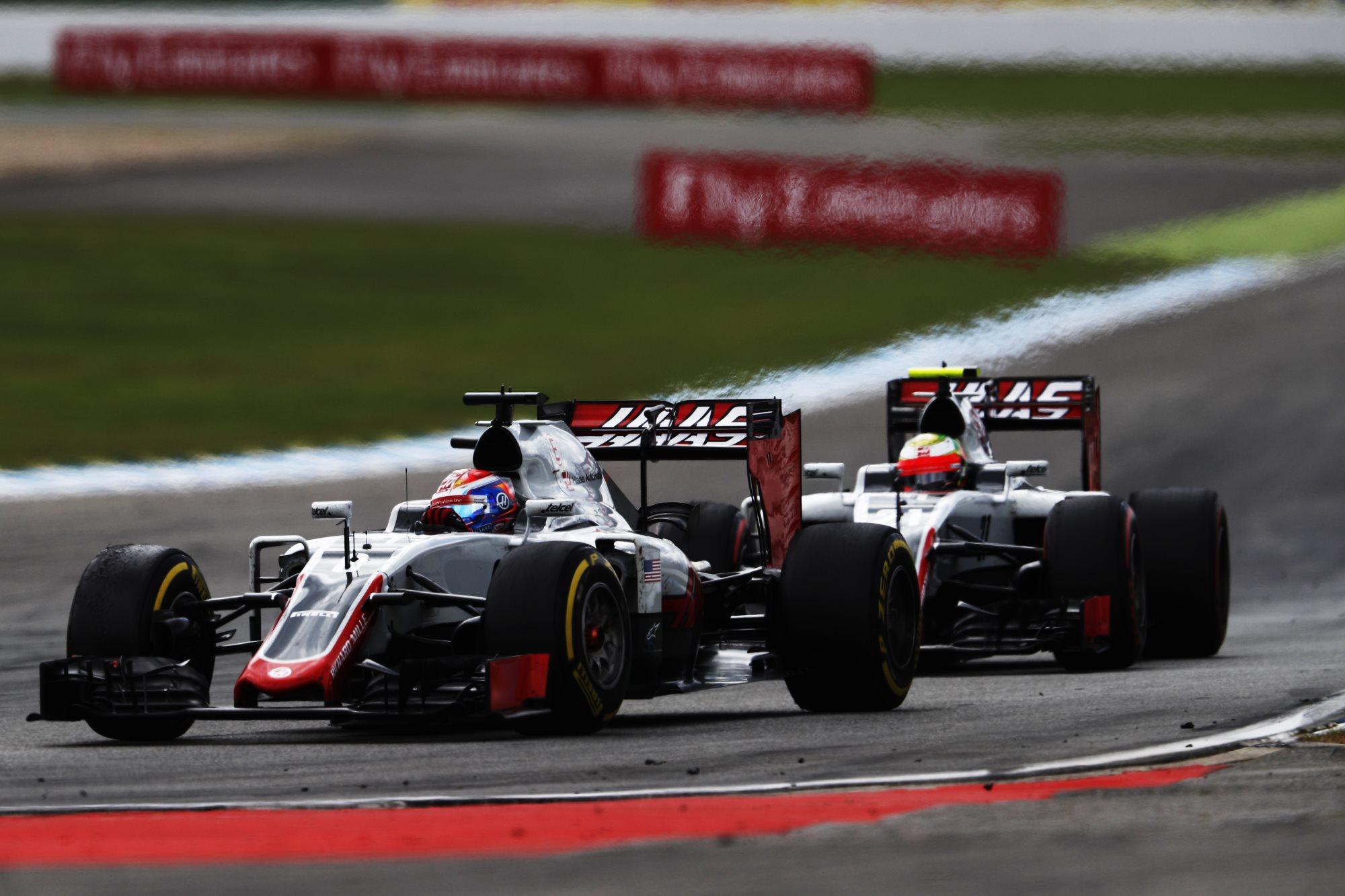 Romain Grosjean and Esteban Gutierrez Haas VF-16 Ferrari Gerrman GP f1 2016 Foto Haas