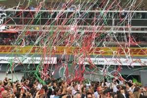 Under Monza podium F1 2016