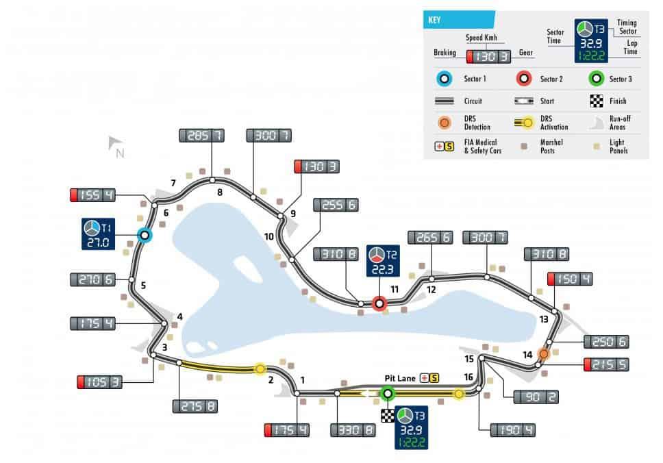 Australian GP F1 2018 Melbourne track map Photo FIA