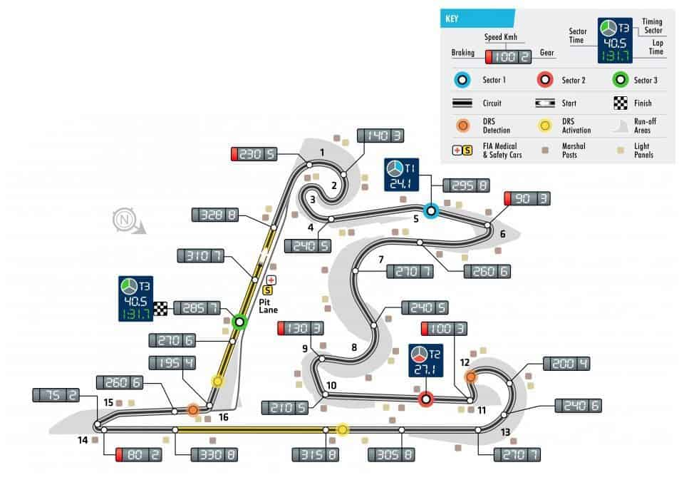 Chinese GP F1 2018 track map Photo FIA