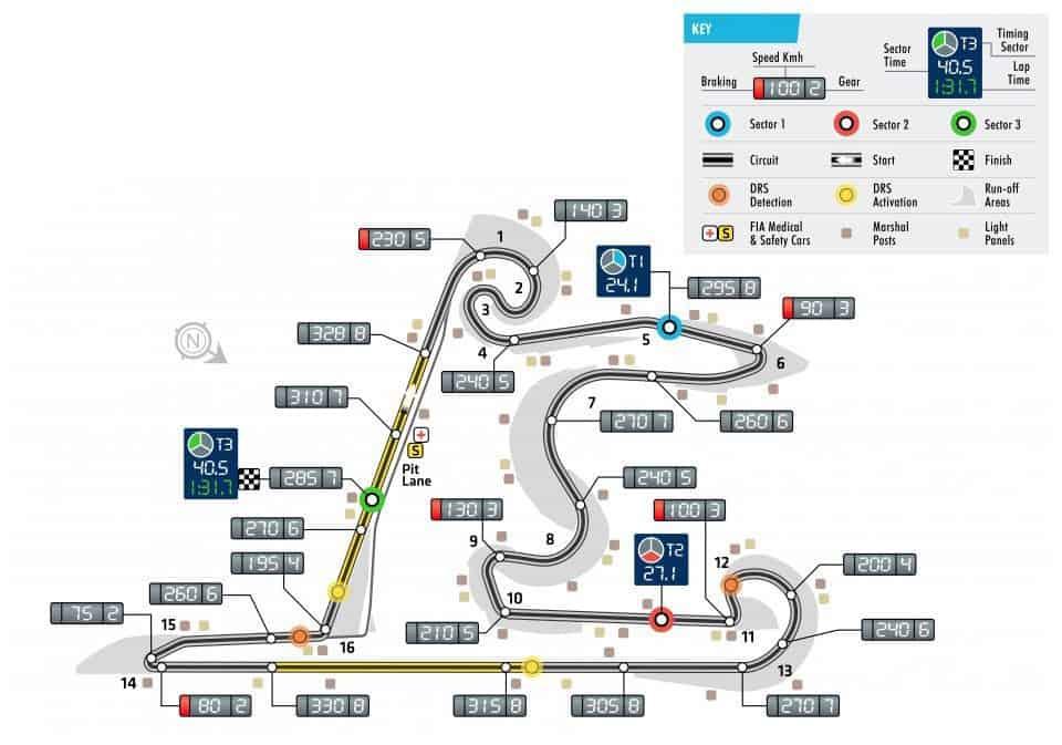 Chinese GP F1 2018 track map Photo FIA