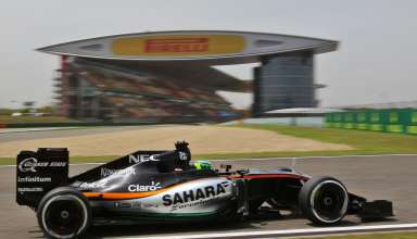 Nico Hulkenberg Force India Mercedes VJM09 China GP F1 2016