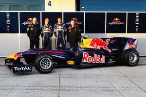 Red Bull RB6 launch Newey Vettel Webber Horner Foto Red Bull