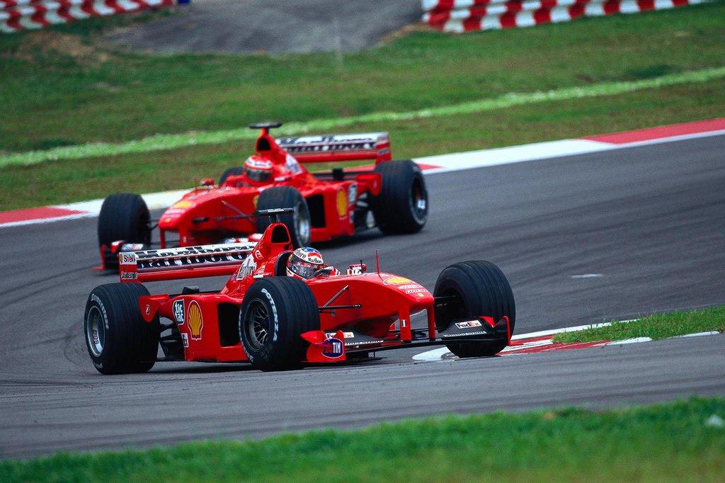 schumacher irvine malaysia f1 1999