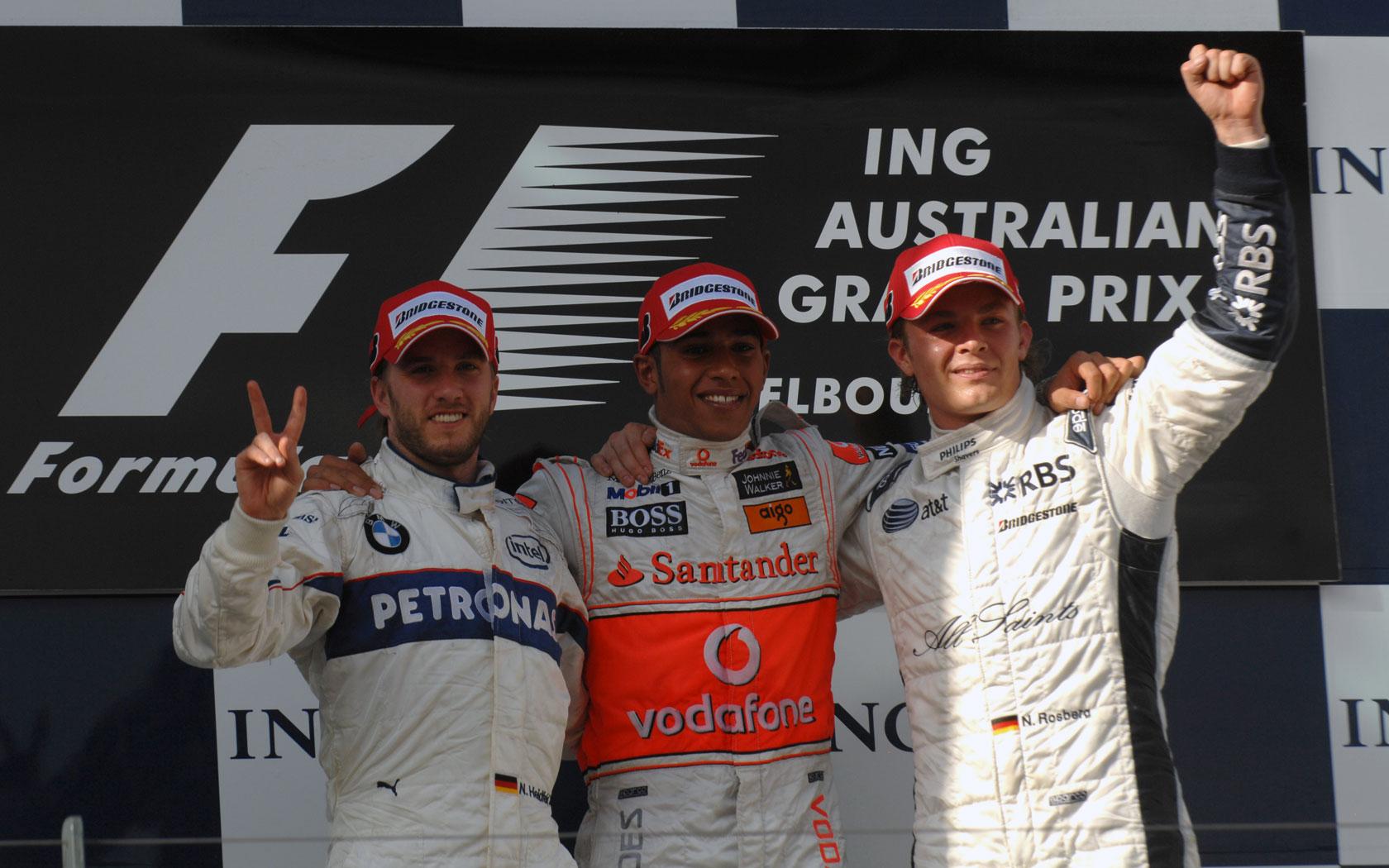 Nico Rosberg ostvario je prvo pobjedničko postolje u karijeri na VN Australije 2008. i prvo za Williams od Wurzovog postolja u Kanadi 2007. (16.3.2008.) Foto: f1fansite