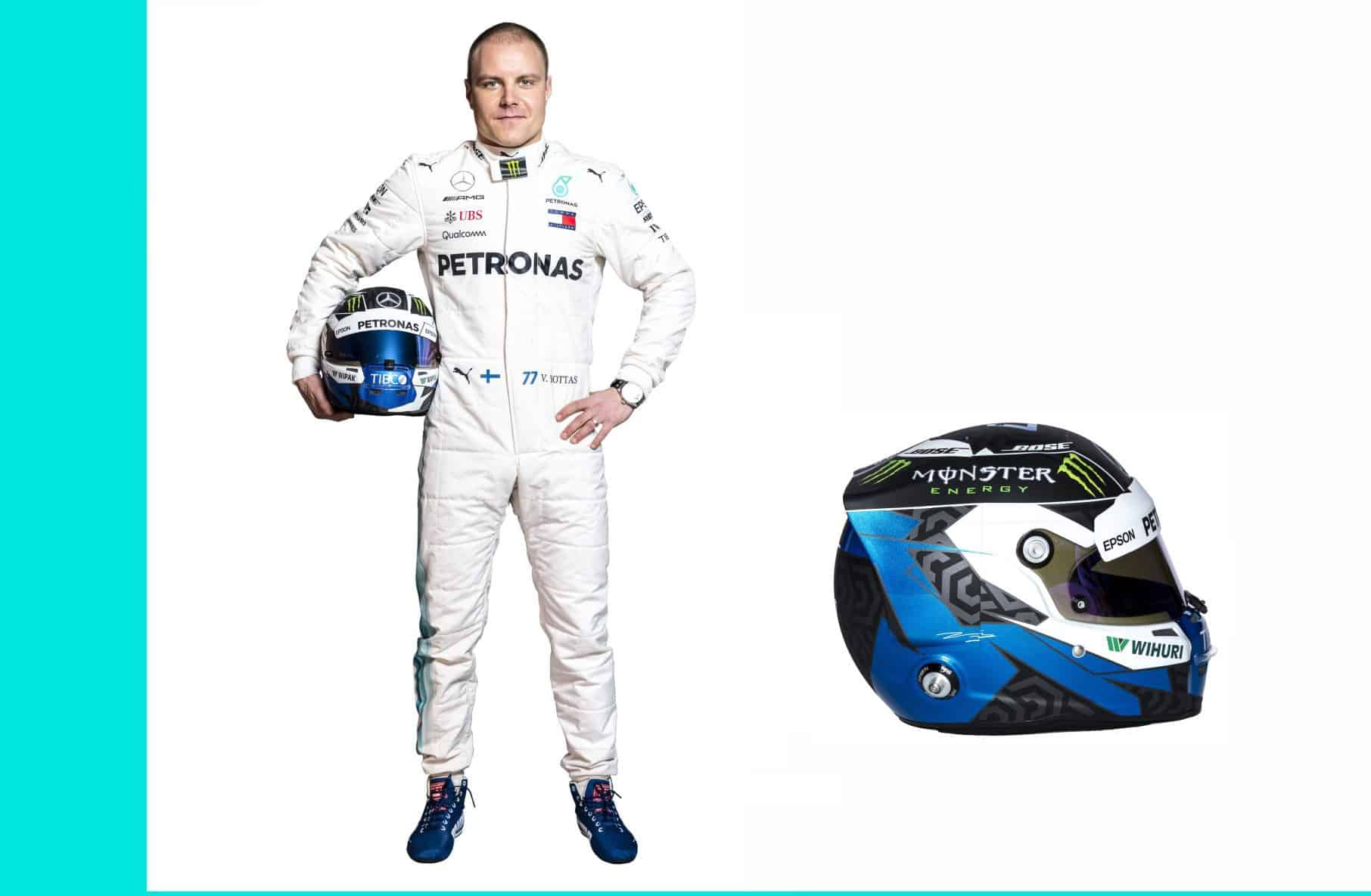 Valtteri Bottas Mercedes F1 2018 profile full