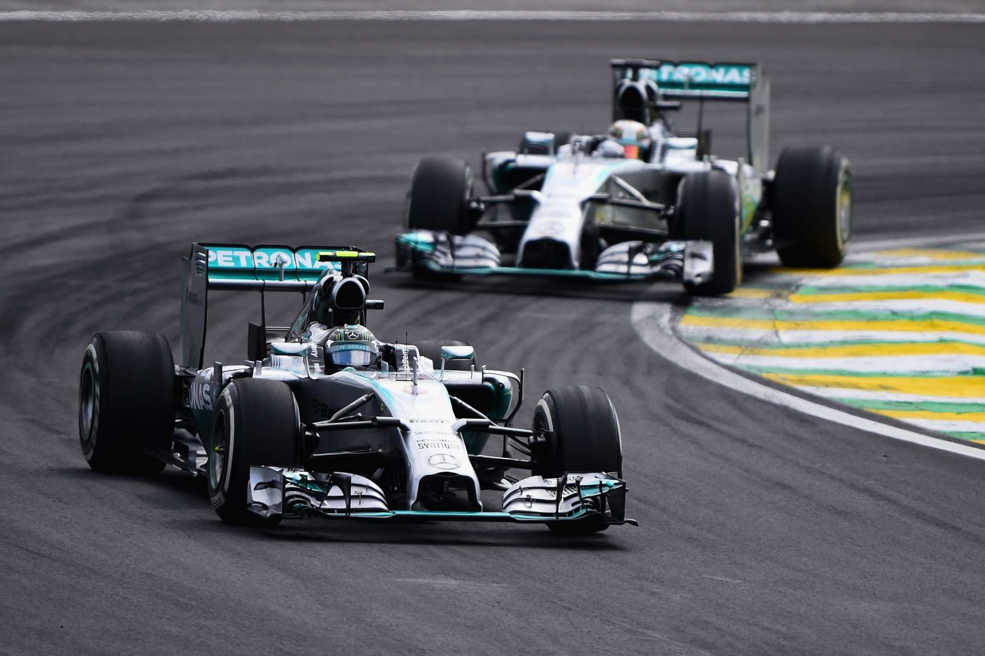 Hamilton Rosberg Brazilian GP F1 2014