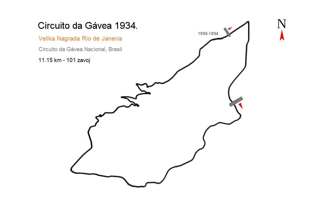 Staza Gavea u Rio de Janeiru na kojoj je 1934. započelo utrkivanje u Brazilu.