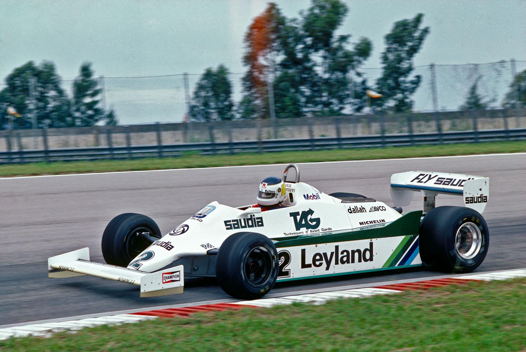 Carlos Reutemann odbio je propustiti momčadskog kolegu Alana Jonesa i pobijedio na VN Brazila 1981. u Williamsu FW07C. (29.3.1981.) Foto: f1fanatic