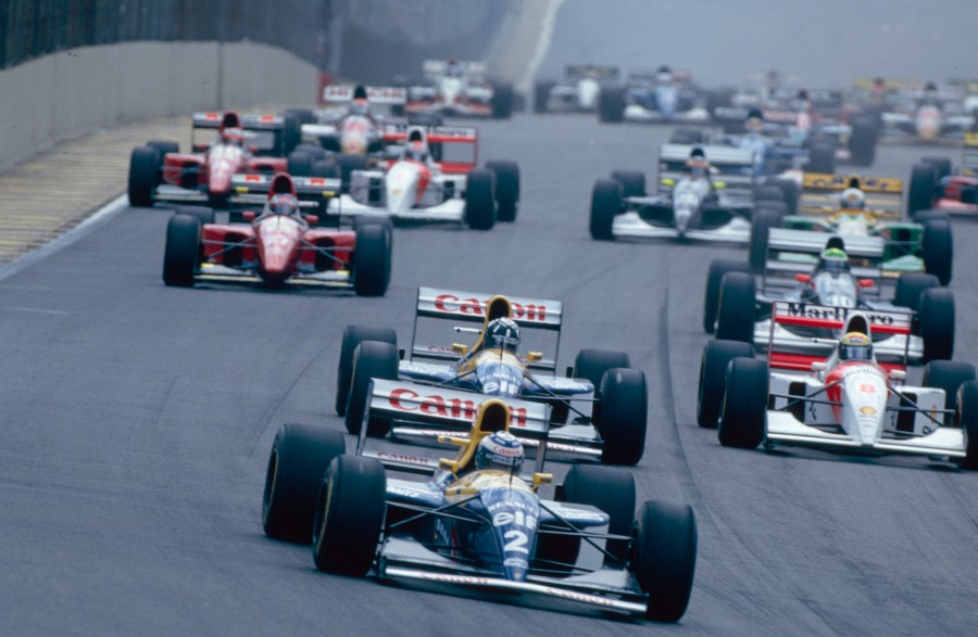 Start VN Brazila 1993. Nakon Prostova odustajanja u 30. krugu slavio je Senna ispred Hilla i Schumachera. Brazilcu je to bila druga i posljednja pobjeda na domaćoj Velikoj Nagradi. (28.3.1993.) Foto: f1fansite