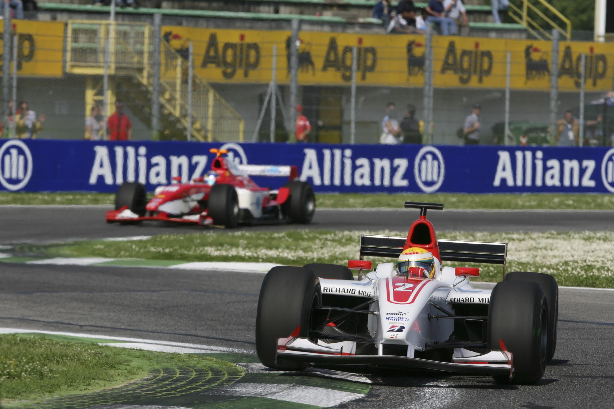 Hamilton na drugoj utrci GP2 prvenstva u Imoli (22.4.2006.) Foto: GP2 Series Media Service