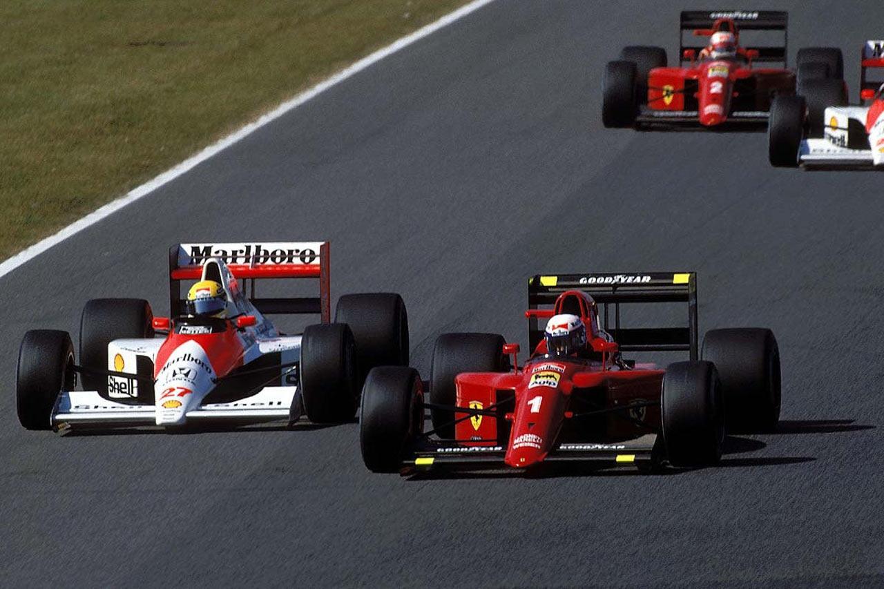 Trenutak prije sudara Ayrtona Senne i Alaina Prosta na startu VN Japana 1990. Oba vozača su odustala, a naslov je pripao Senni. (21.10.1990.) Foto: McLaren