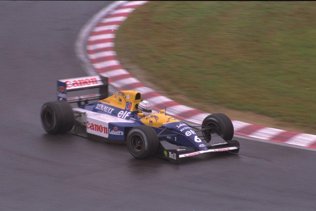 Riccardo Patrese ostvario je na VN Japana 1992. jedinu pobjedu u sezoni. (25.10.1992.) Foto: f1history